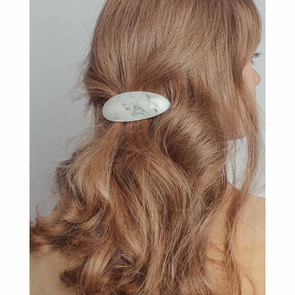 Заколка-автомат для волос, 8см, металл, пластик, 2 дизайна