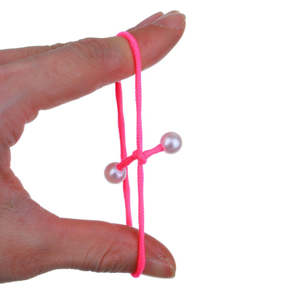Резинки для волос с декором BERIOTTI, 4 шт, d.3 см, 2 дизайна