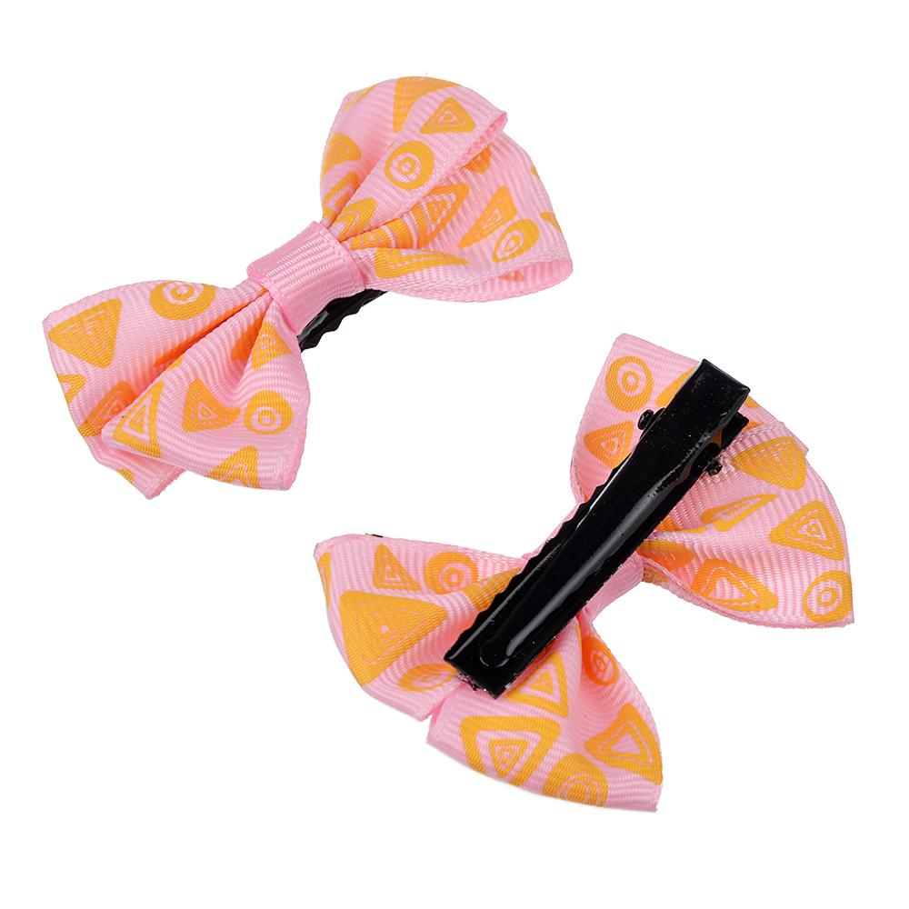 Набор аксессуаров для волос 3пр: ободок 1см, заколка-зажим 2шт 5,5см, полиэстер, сплав, 3 цвета
