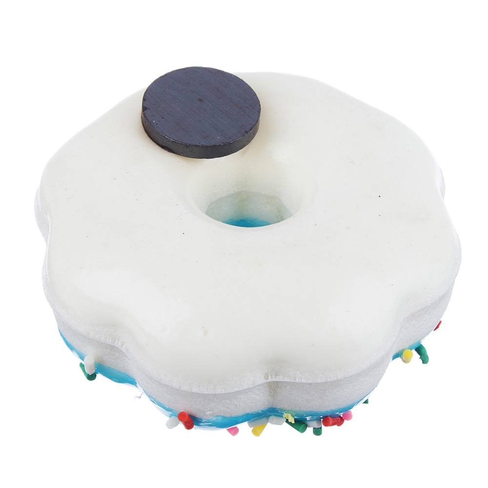 Магнит на холодильник в виде пончика, PU, 7х7х3,5см