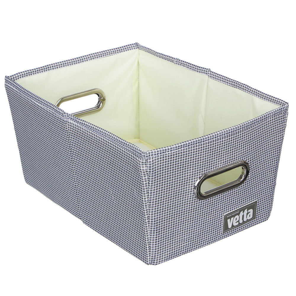 "Короб складной для хранения VETTA ""Клетка"", 25х35х18 см, полиэстер, 2 цвета"