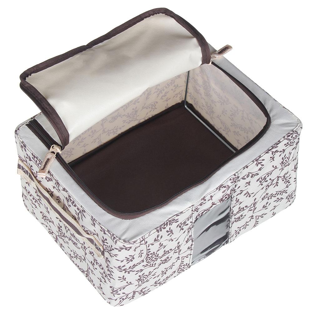 VETTA Короб жесткий для хранения вещей на молнии, 11л, полиэстер, металл, 30х23х16см, 2 дизайна