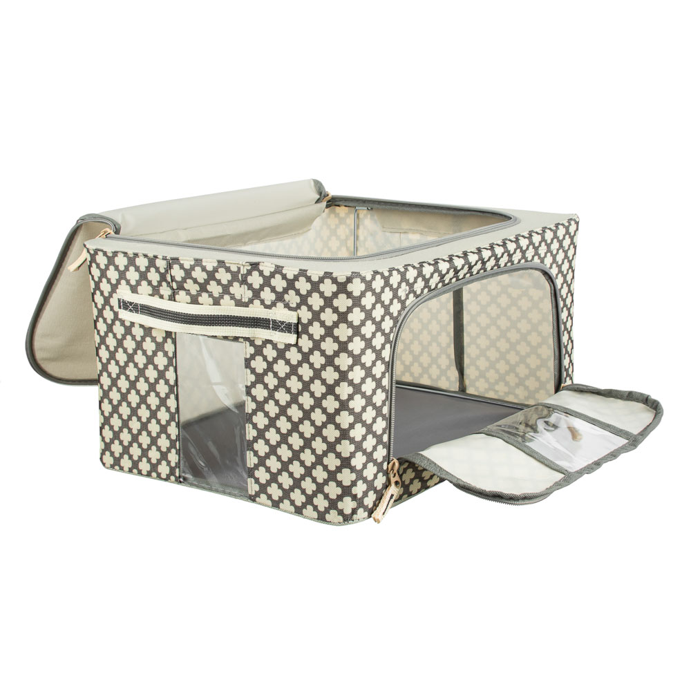 VETTA Короб жесткий для хранения вещей на молнии, 22л, полиэстер, металл, 39х29х20см