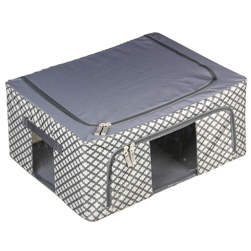 VETTA Короб жесткий для хранения вещей на молнии, 44л, полиэстер, металл, 50х40х22см