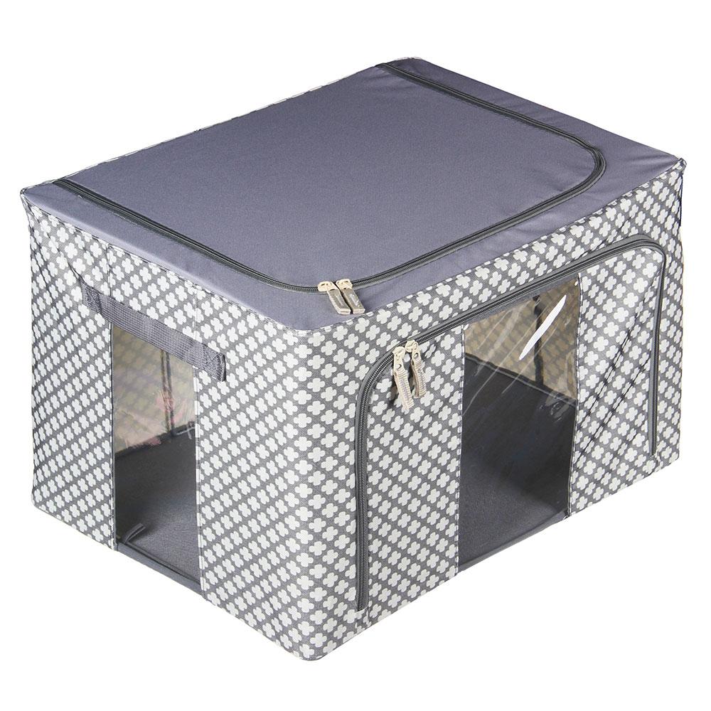 VETTA Короб жесткий для хранения вещей на молнии, 66л, полиэстер, металл, 50х40х33см, 2 дизайна
