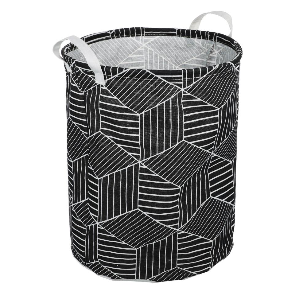 VETTA Корзина для белья текстильная, 70% хлопок, 30% полиэстер, 40 х 50см 4 дизайна