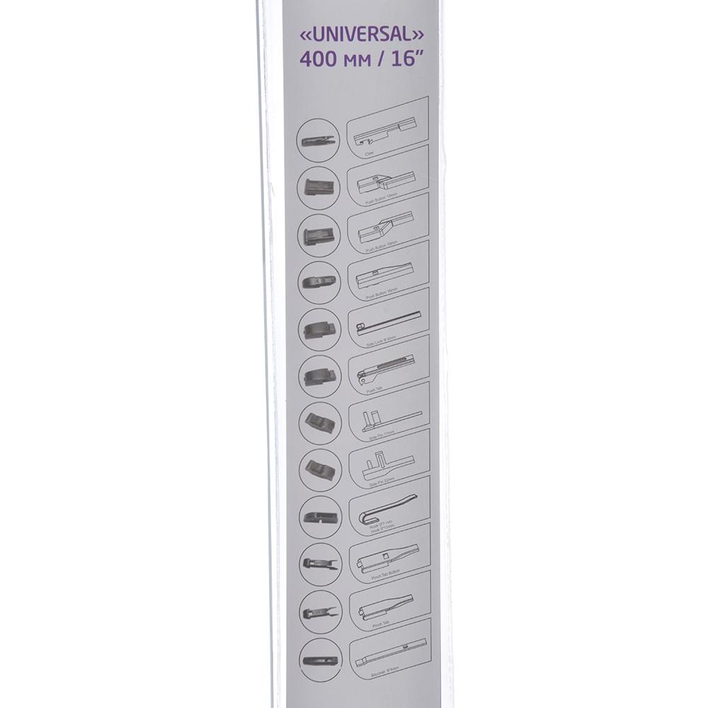 NEW GALAXY Щетка стеклоочистителя бескаркасная UNIVERSAL 400мм/16'', 10 адаптеров