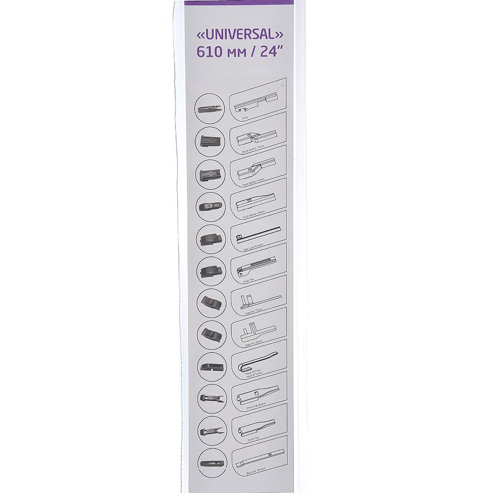 NEW GALAXY Щетка стеклоочистителя бескаркасная UNIVERSAL 610мм/24'', 10 адаптеров