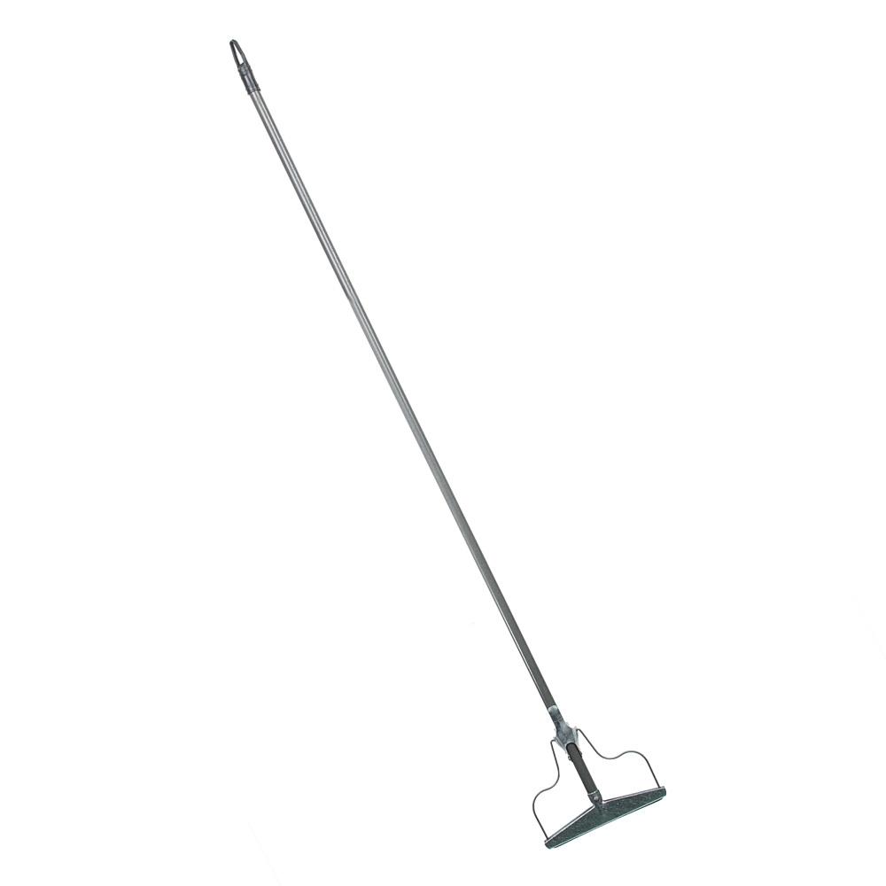 Швабра-тряпкодержатель металлический в сборе с металлической ручкой, сталь,1220х190х20 см,арт.ТР0359