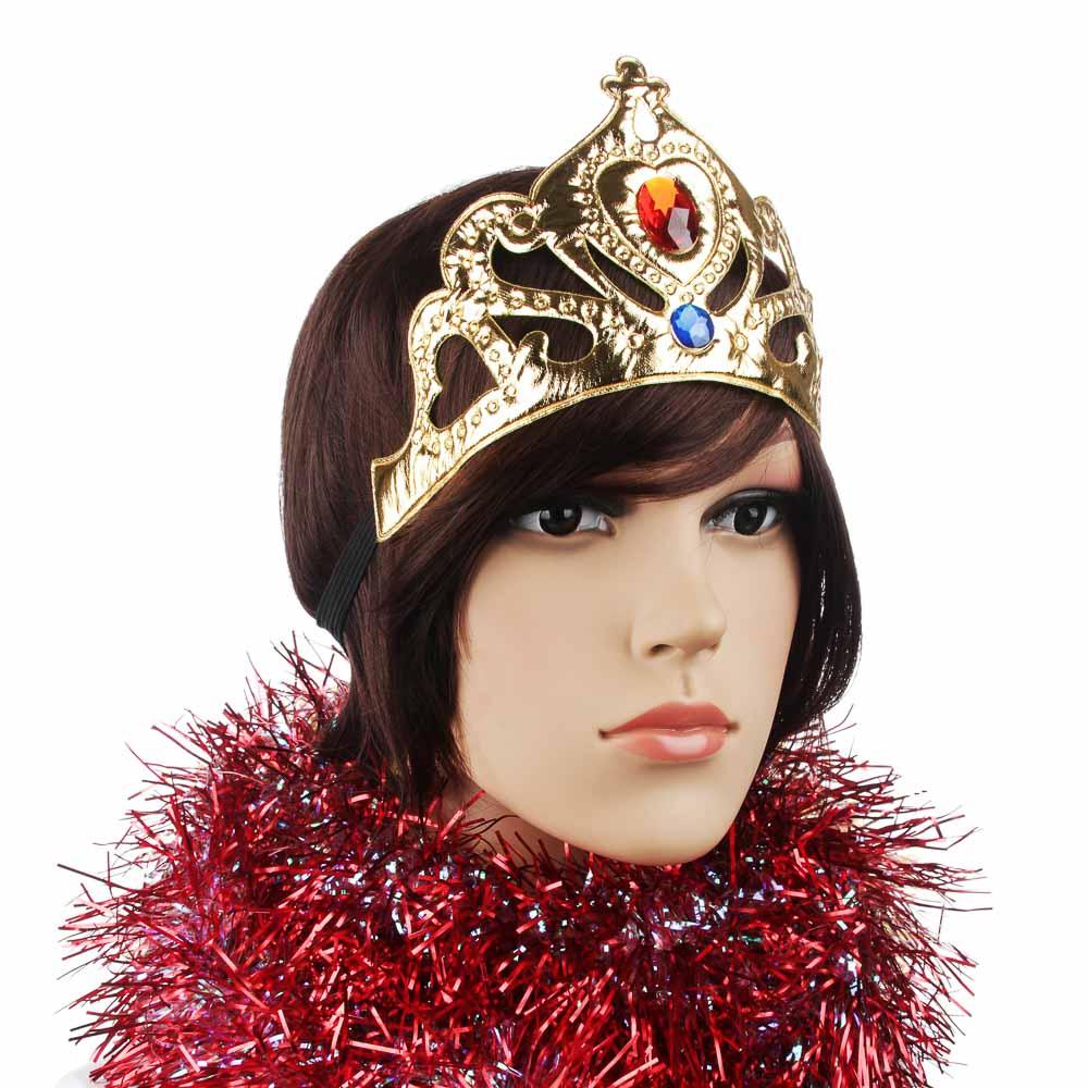 СНОУ БУМ Корона карнавальная, полиэстер, пластик, 22х10 см, 2 цвета, арт.1