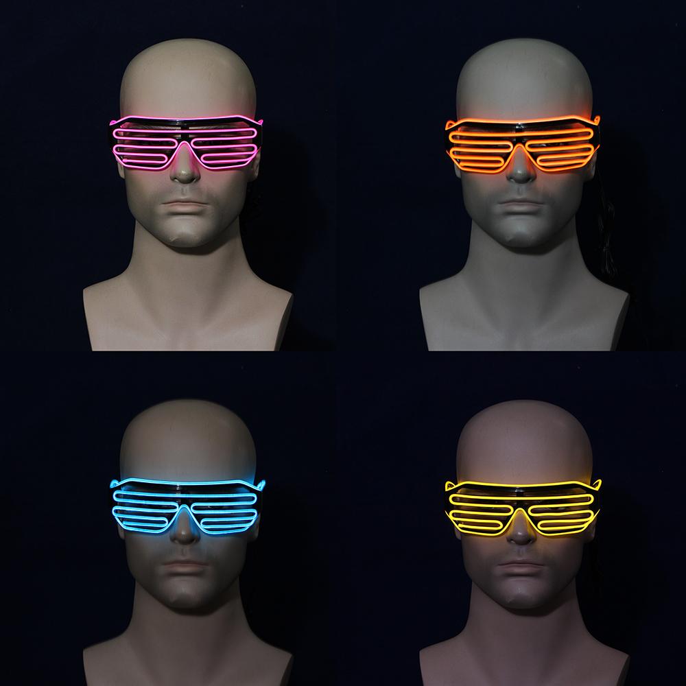 Очки карнавальные СНОУ БУМ LED, пластик, 4 цвета