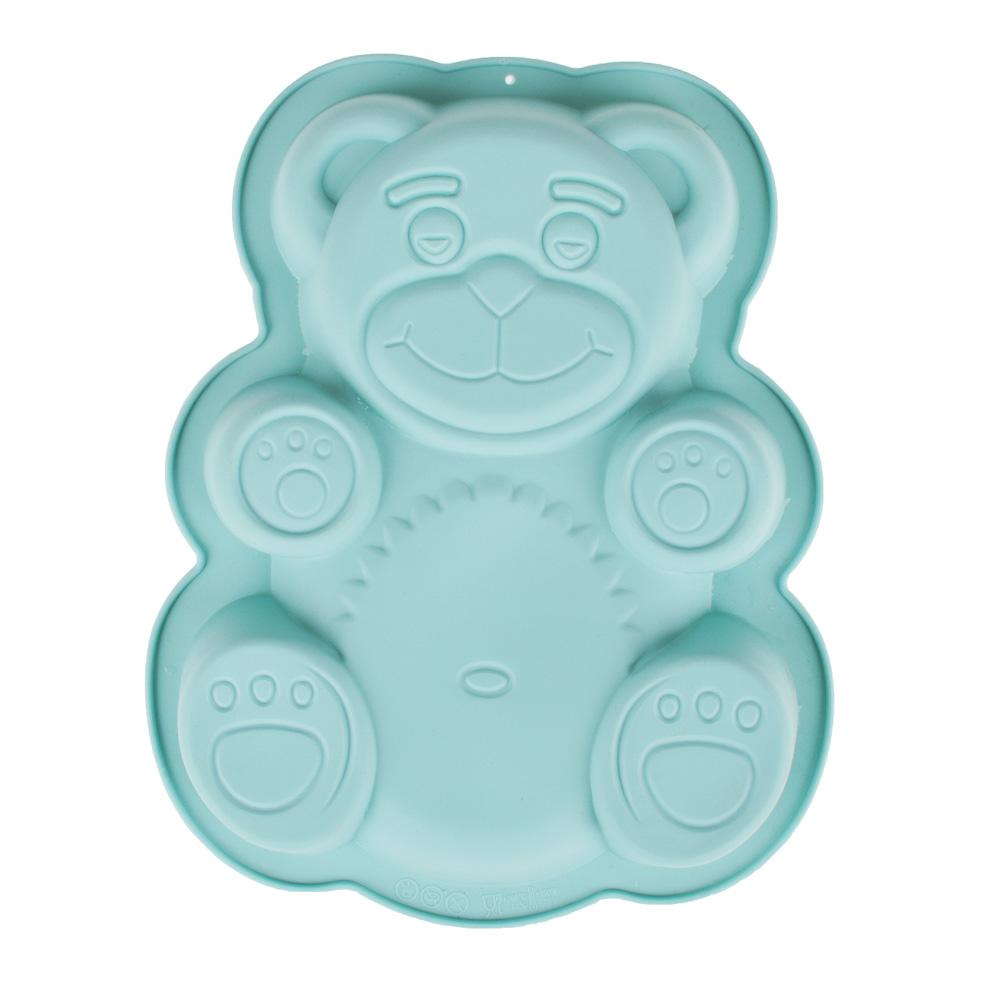 Форма для выпечки VETTA Медвежонок, силикон 3 цвета