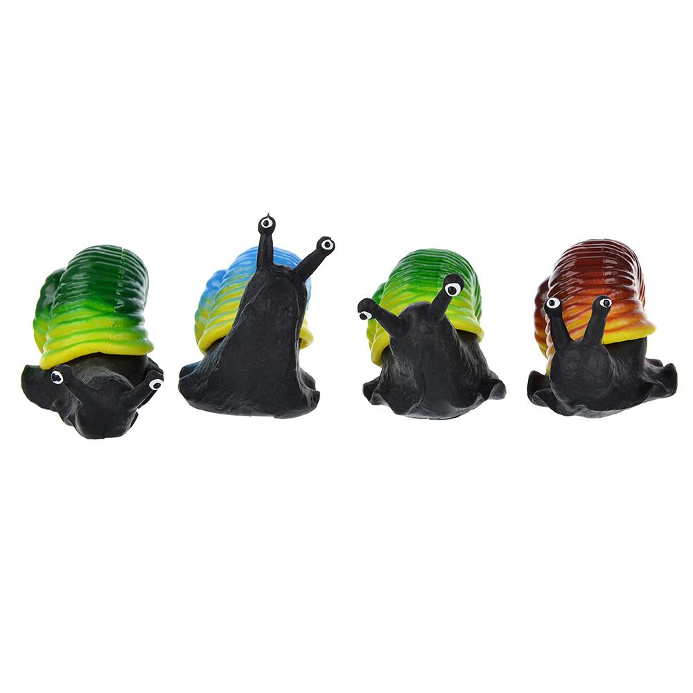 Игрушка в виде улитки с панцирем, пластик, резина, 6-8см, 2-4 цвета