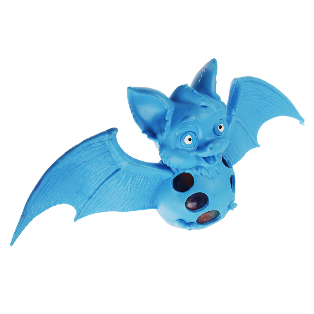 Мялка в виде летучей мыши, резина, 20х9,5х5см, 2-4 дизайна