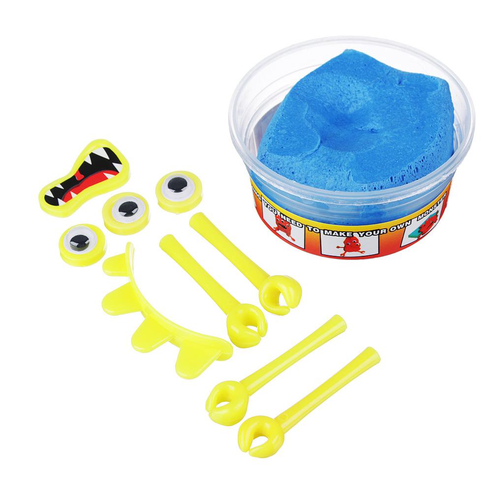 LASTIKS МонстроЛизун, в комплекте: глазки, ручки, зубы, 55-65гр, полимер, пласт, 8,5х6,5см, 4 цвета