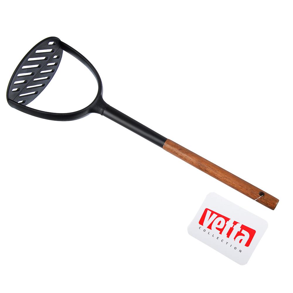 Толкушка VETTA Виста, нейлон, ручка нерж.сталь, дерево