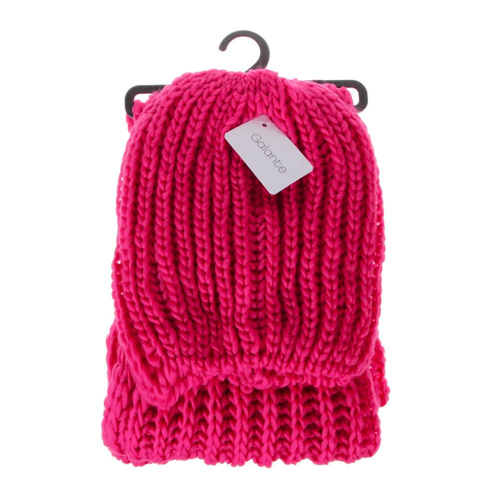Набор 2 предмета: шапка, шарф 150х17см, 100% акрил, 4 цвета