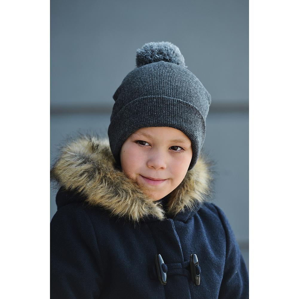 Шапка молодежная, 18х20см, 100% акрил, 3 цвета, ШЗ2019-18