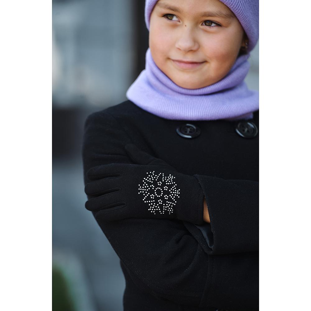 Набор детский 2 предмета: шапка, манишка, 100% акрил, 3-6 цветов