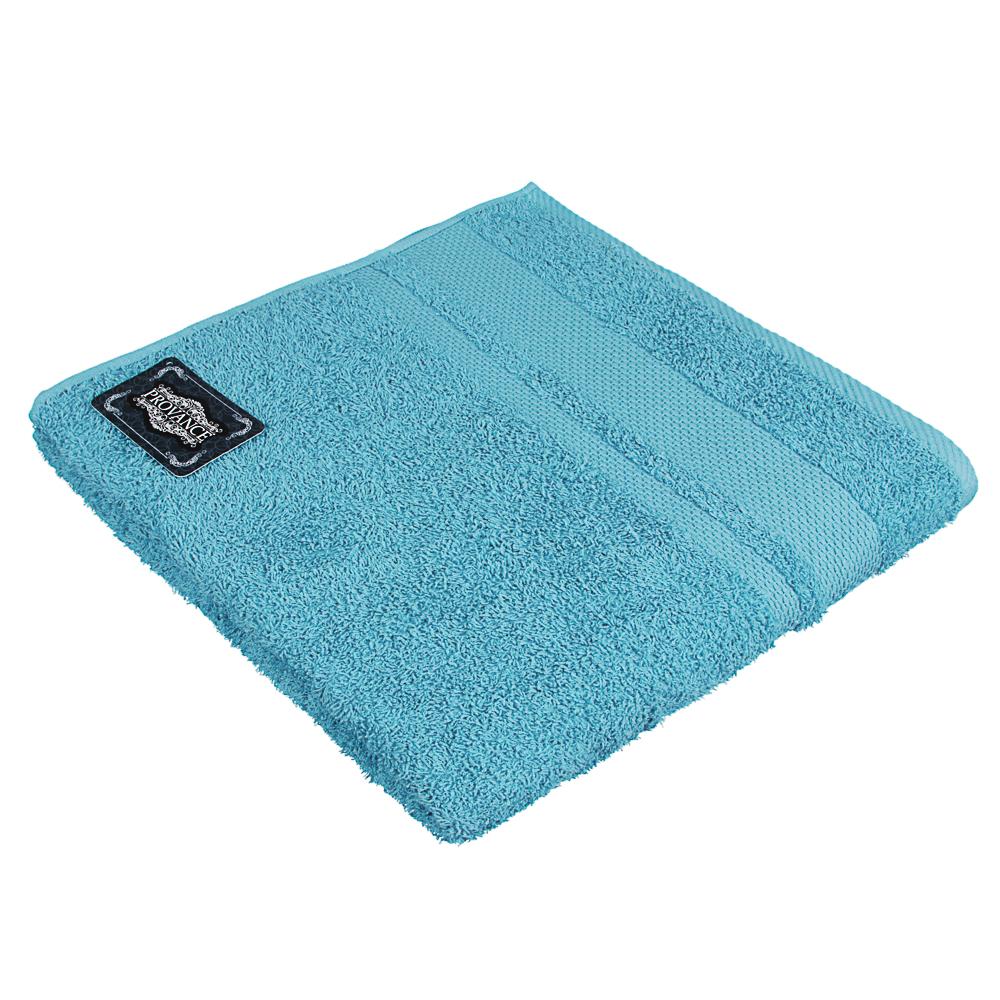 Полотенце махровое PROVANCE Наоми 70х130см, 100% хлопок, голубой