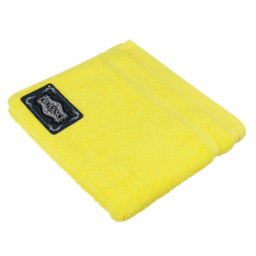 "Полотенце махровое PROVANCE ""Виана"" 50х90см, 100% хлопок, желтый"
