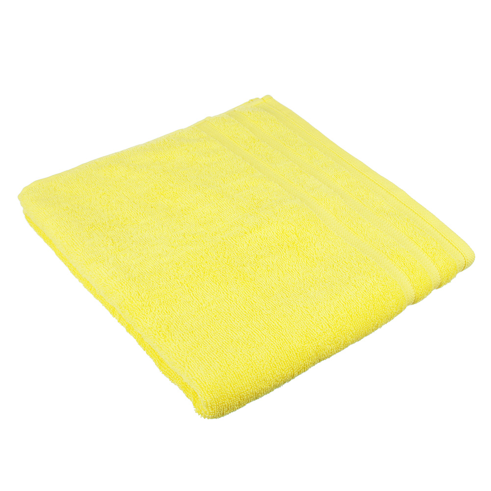 "Полотенце махровое PROVANCE ""Виана"" 70х130см, 100% хлопок, желтый"
