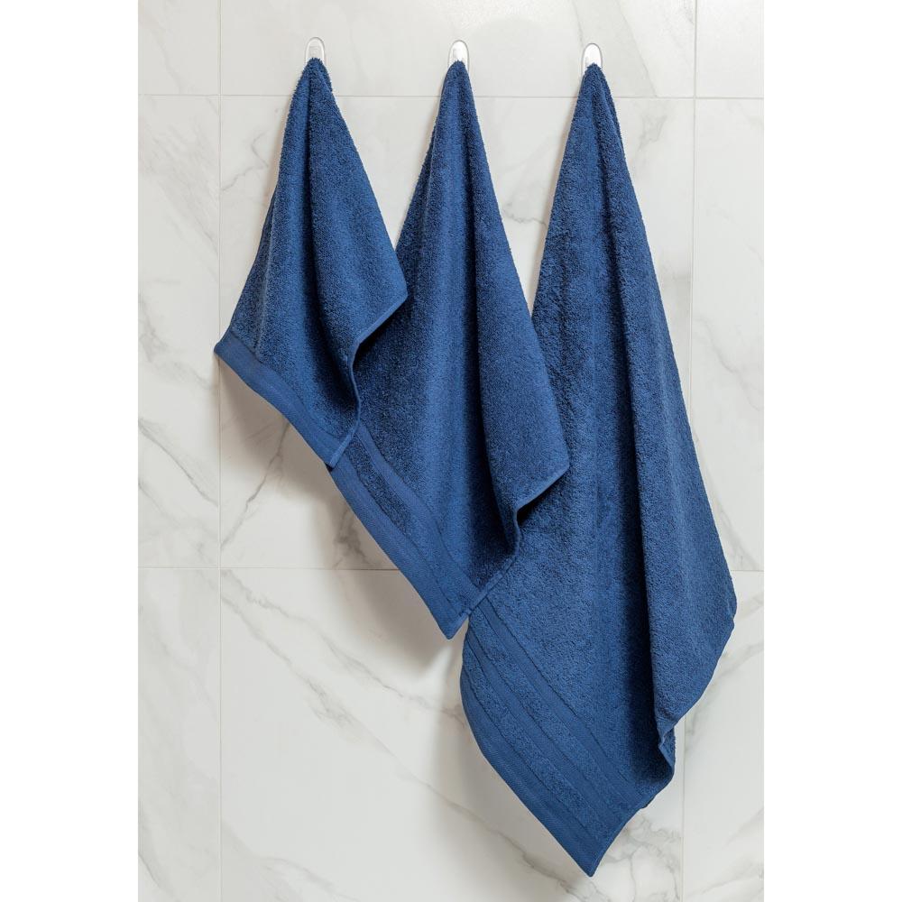 """Полотенце махровое PROVANCE """"Виана"""" 70х130см, 100% хлопок, глубокий синий"""