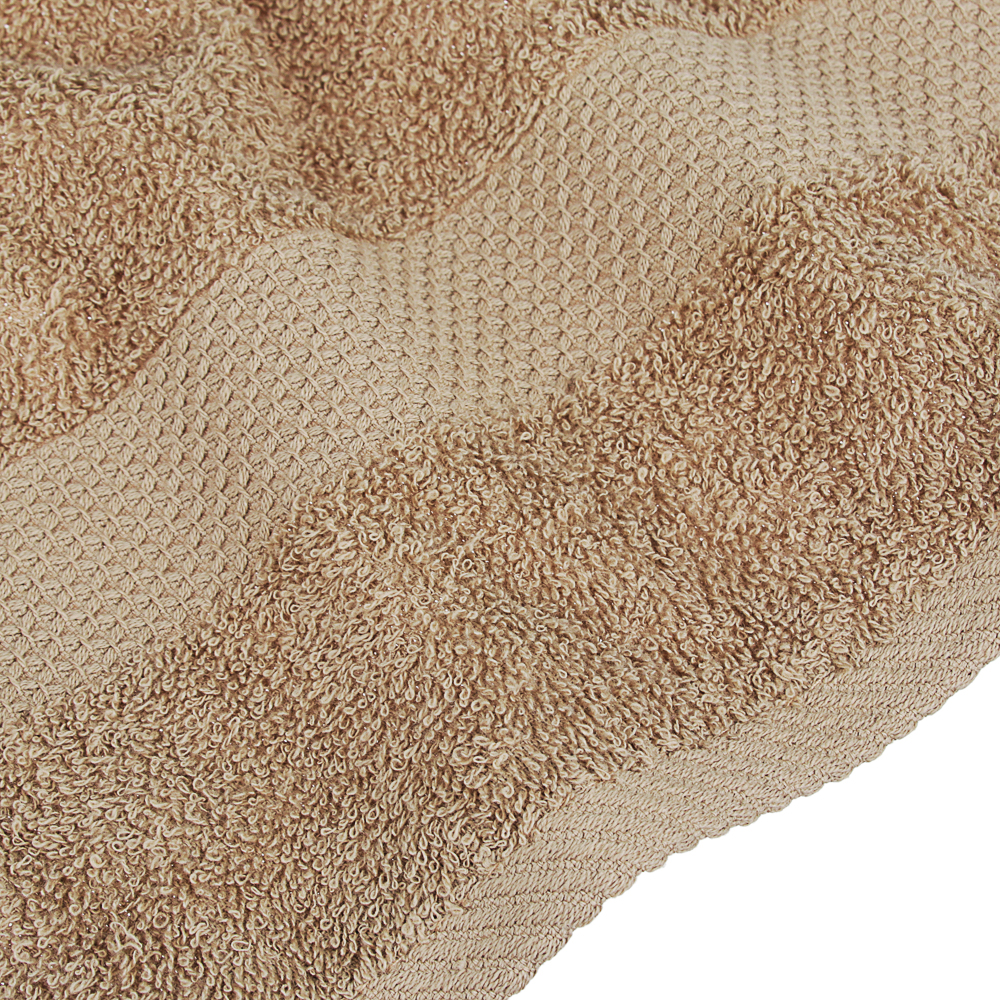 Полотенце махровое PROVANCE Наоми 50х90см, 100% хлопок, зелено-коричневый