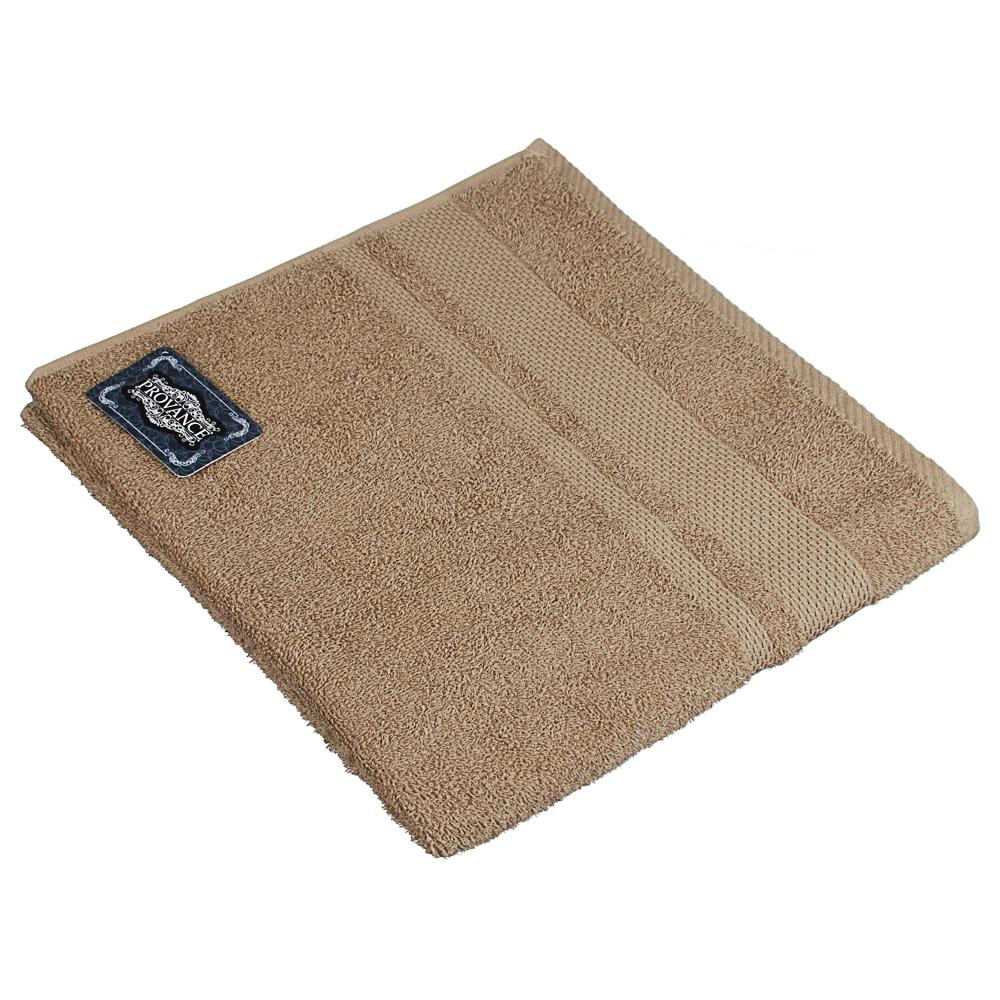 Полотенце махровое PROVANCE Наоми 70х130см, 100% хлопок, зелено-коричневый