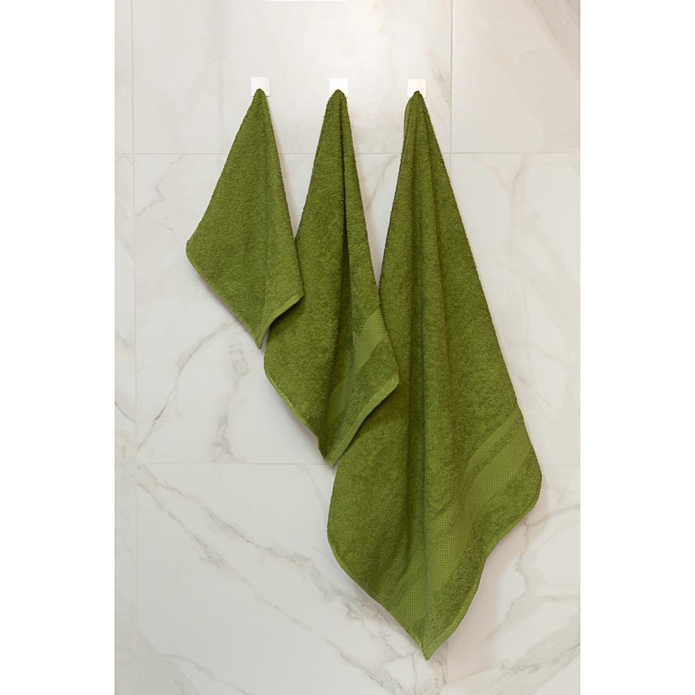 "Полотенце махровое PROVANCE ""Грейс"" 50х90см, 100% хлопок, темно-зеленый"