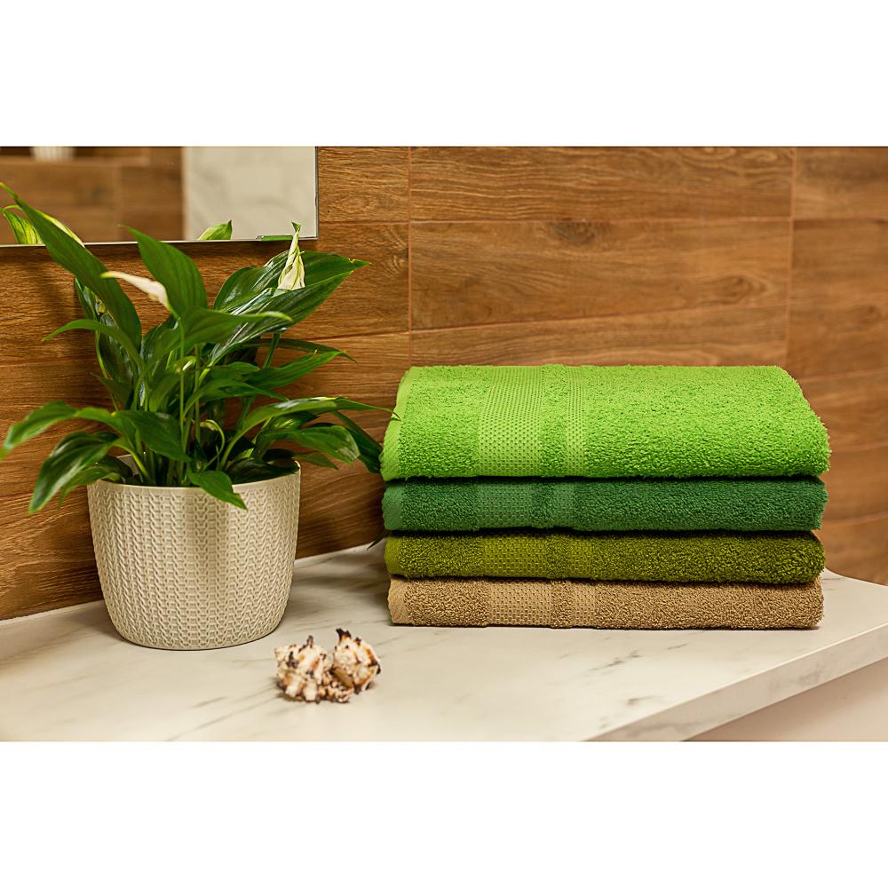 """Полотенце махровое PROVANCE """"Грейс"""" 70х130см, 100% хлопок, зеленый"""