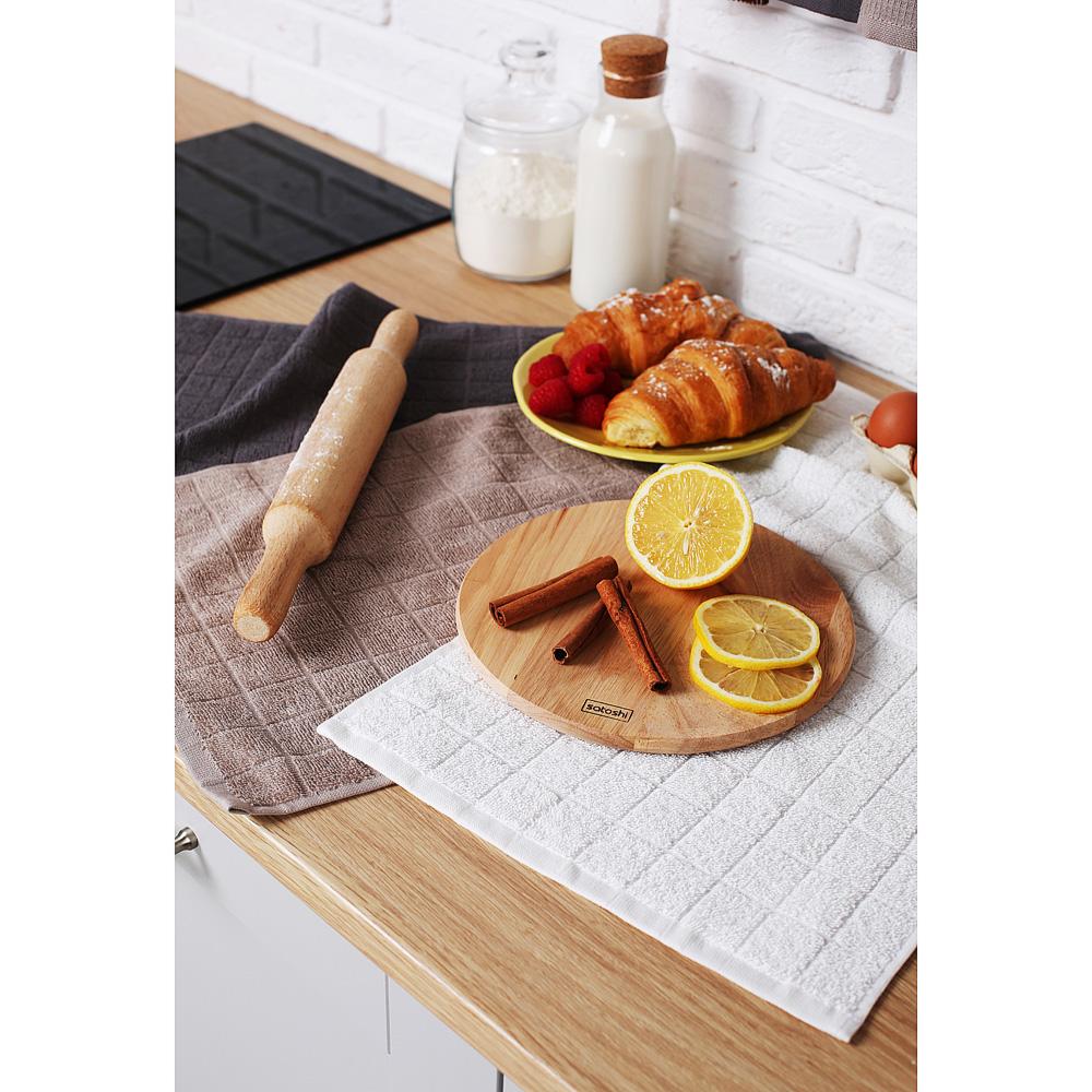 "Кухонное полотенце махровое PROVANCE, 100% хлопок, 30х50см, 380гр/м, ""Гармония"", 3 цвета"