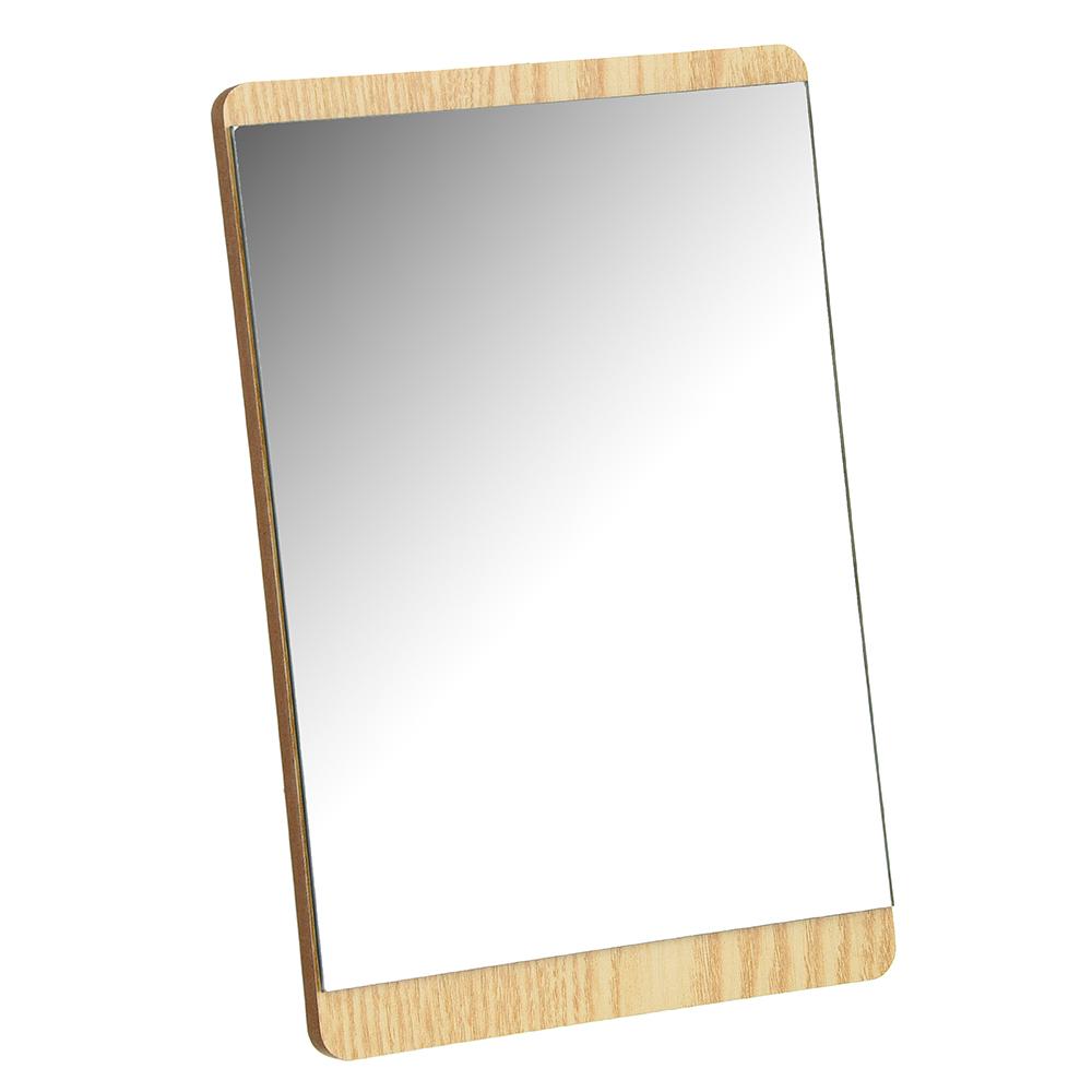 Зеркало настольное, МДФ, стекло, металл, 15х22,5см, 4 цвета, ЗН19-3