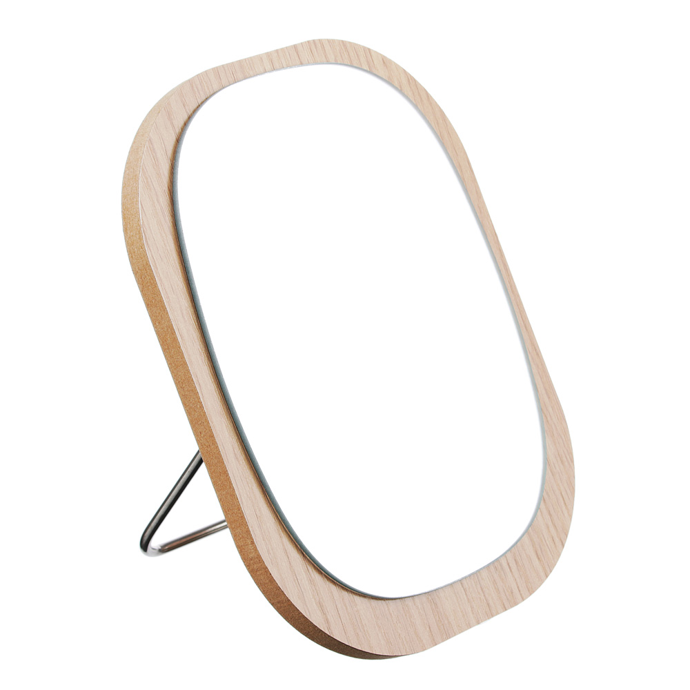 Зеркало настольное, МДФ, стекло, металл, 14,5х17,5см, 4 цвета, ЗН19-4