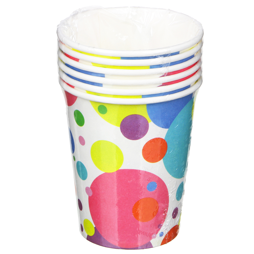 Набор бумажных стаканов 6шт, 200мл, арт 01