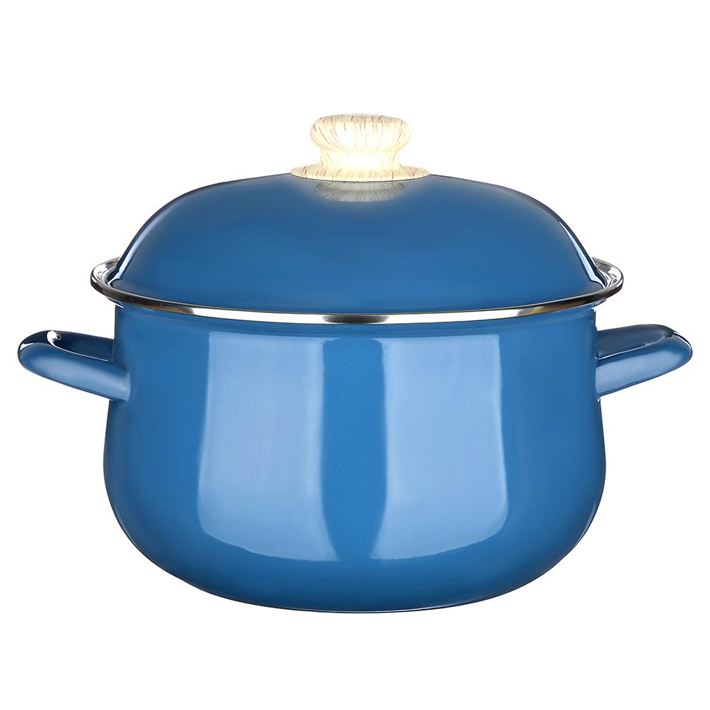 Кастрюля 3,6 л VETTA Глянец, эмалированная, синий