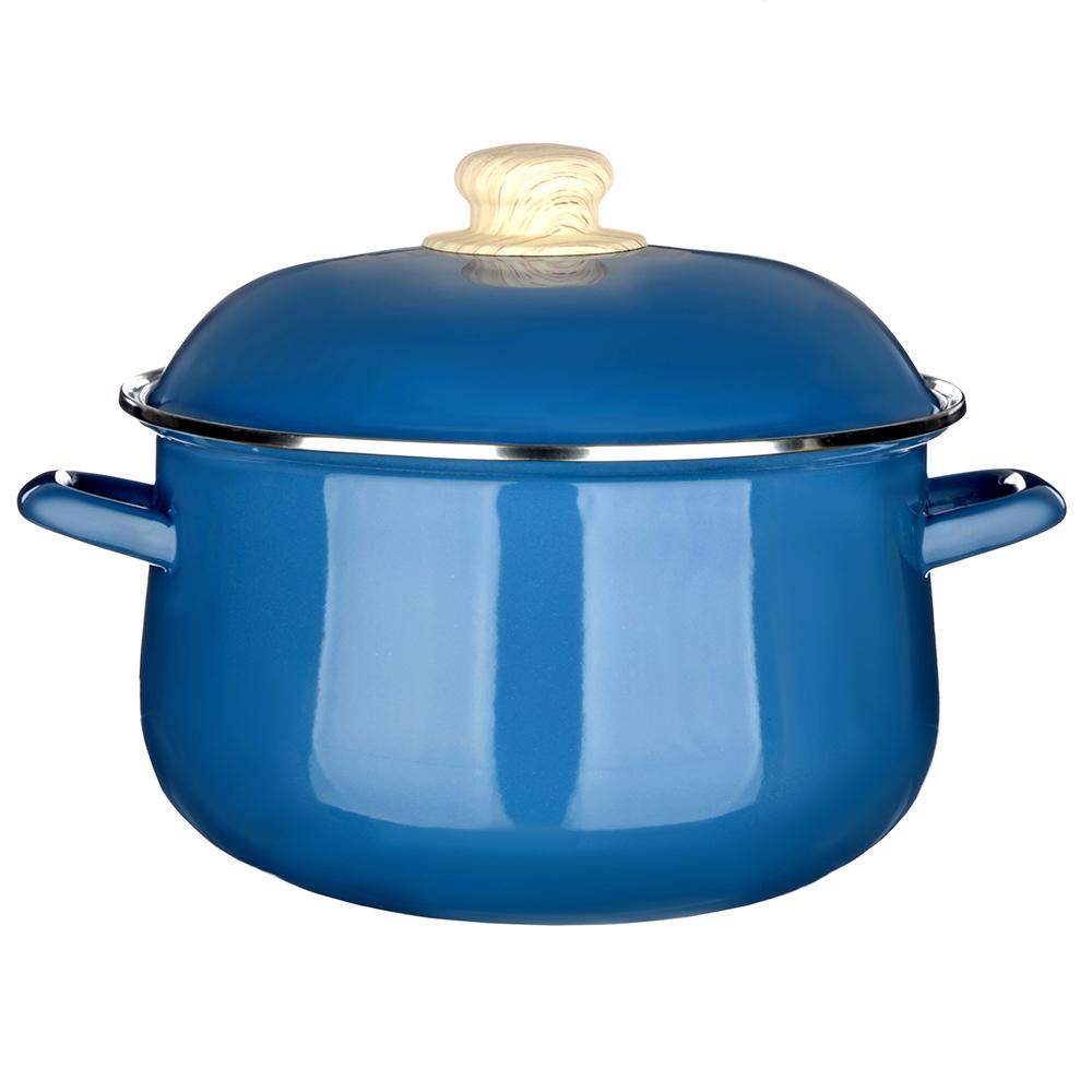 Кастрюля 5,0 л VETTA Глянец, эмалированная, синий
