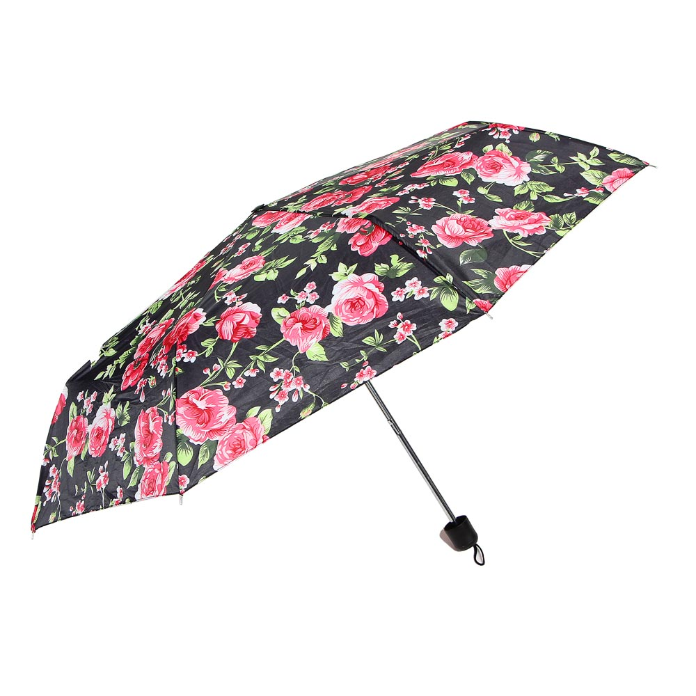 Зонт женский, механика, сплав, полиэстер, 53см, 8 спиц, 4 дизайна, 10598-1