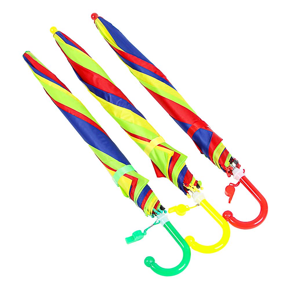 Зонт-трость детский, полиэстер, пластик, сплав, 43см, 8 спиц, 3-4 цвета