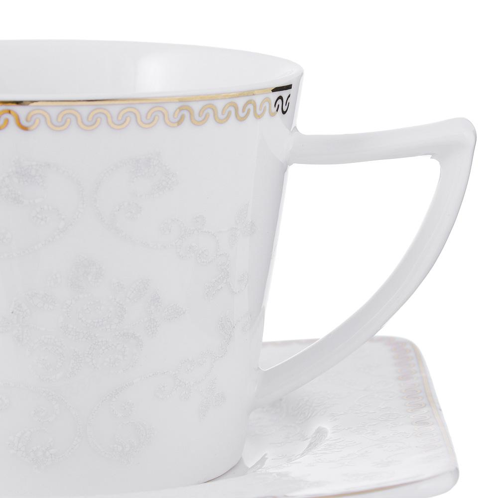 Чайный сервиз 12 предметов MILLIMI Амели 220мл, костяной фарфор