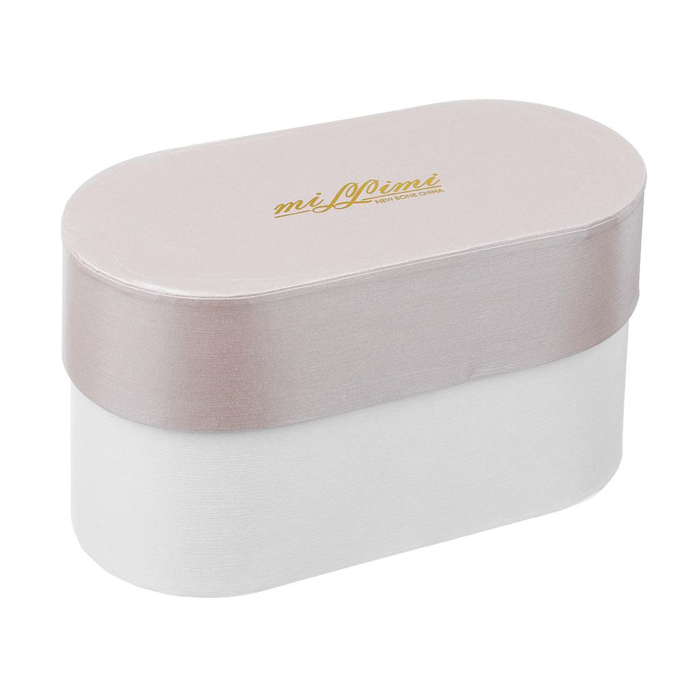 Набор кружек 2 шт. MILLIMI Алисия 220мл, костяной фарфор, подарочная упаковка