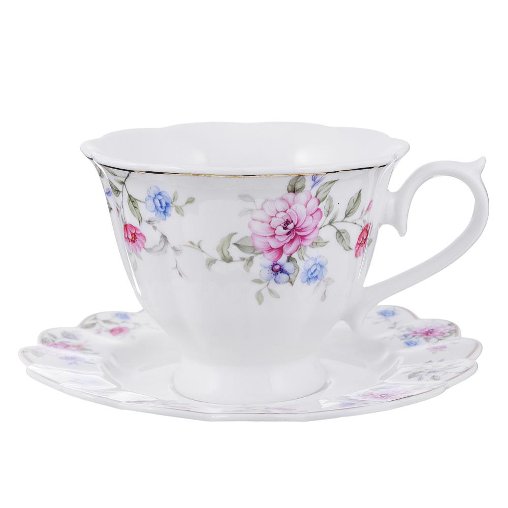Чайный сервиз 2 предмета MILLIMI Азалия 220мл, костяной фарфор