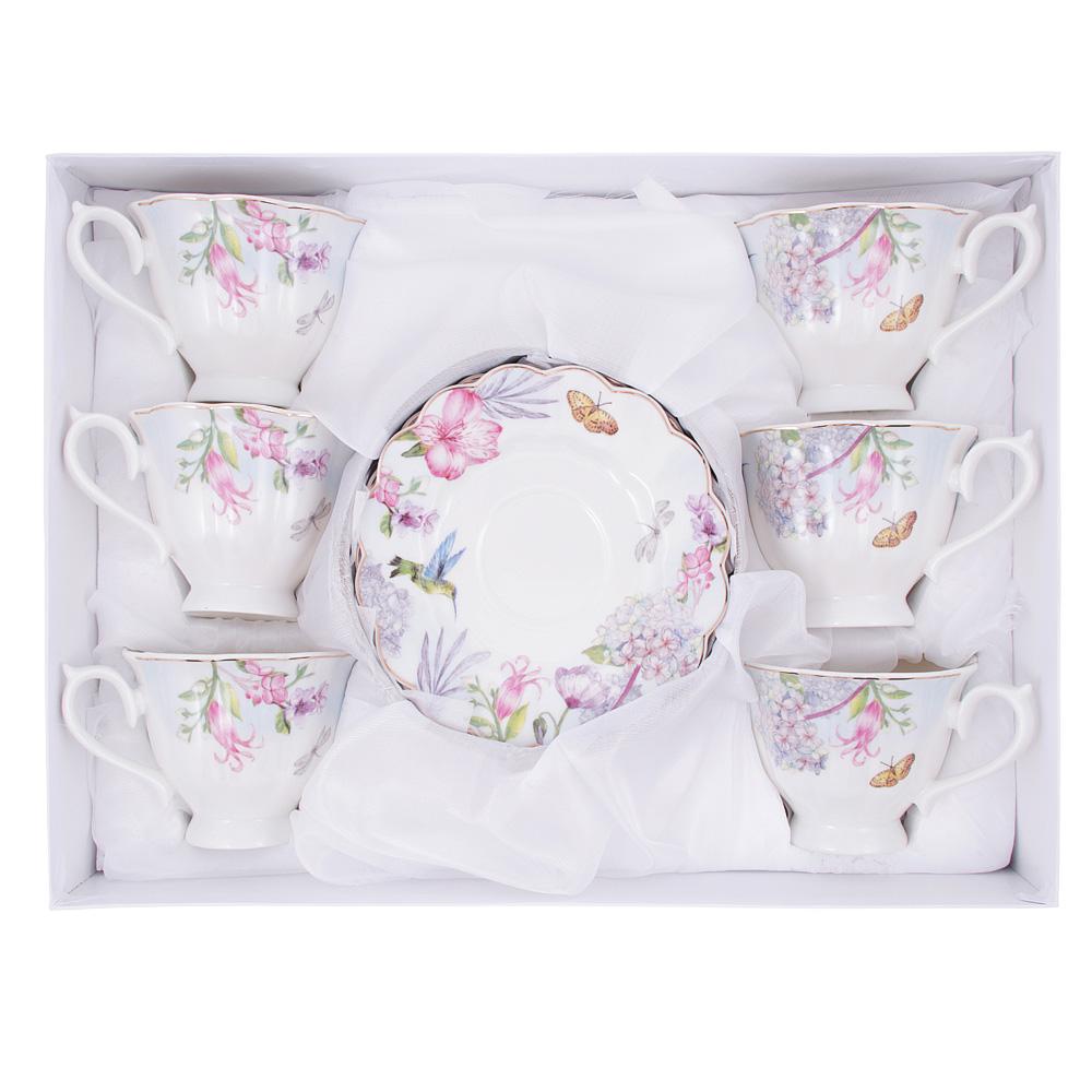 Чайный сервиз 12 предметов MILLIMI Арлетт 220мл, костяной фарфор