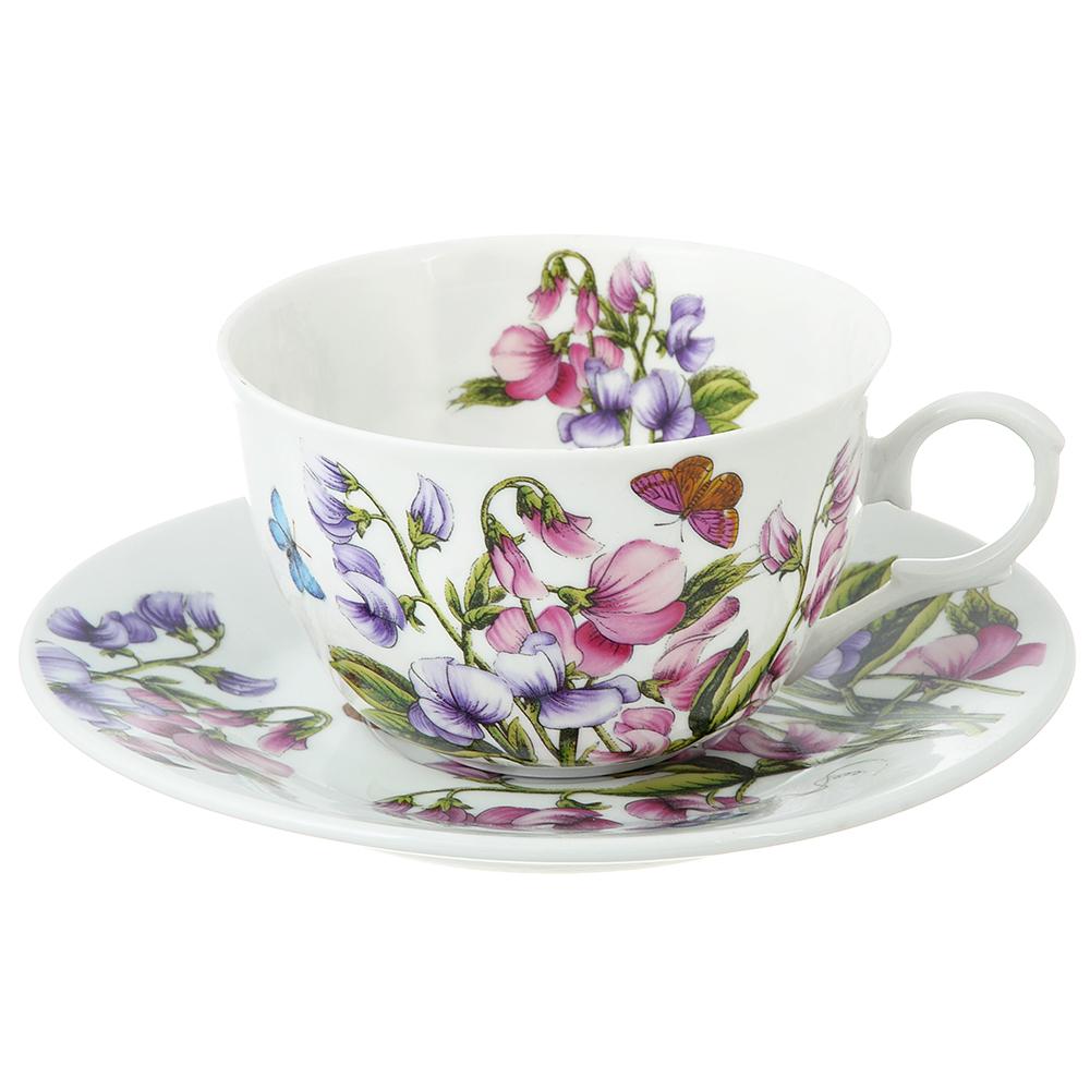 Чайный сервиз 2 предмета MILLIMI Камила 250мл, тонкий фарфор