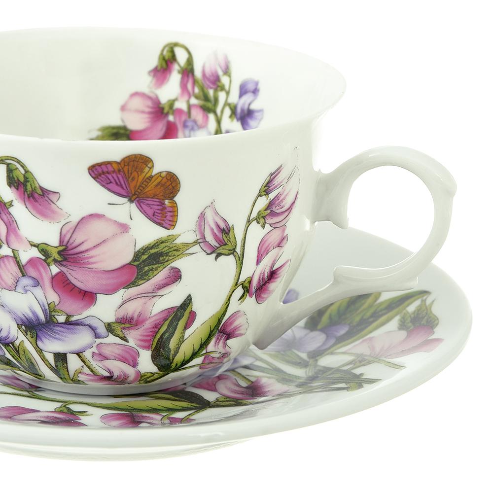 Чайный сервиз 12 предметов MILLIMI Камила 250мл, тонкий фарфор