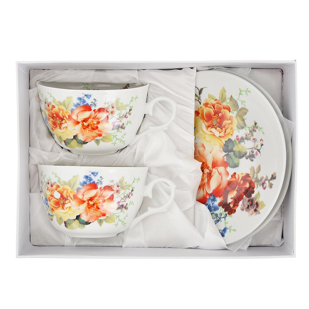 Чайный сервиз 4 предмета MILLIMI Каприз 250мл, тонкий фарфор