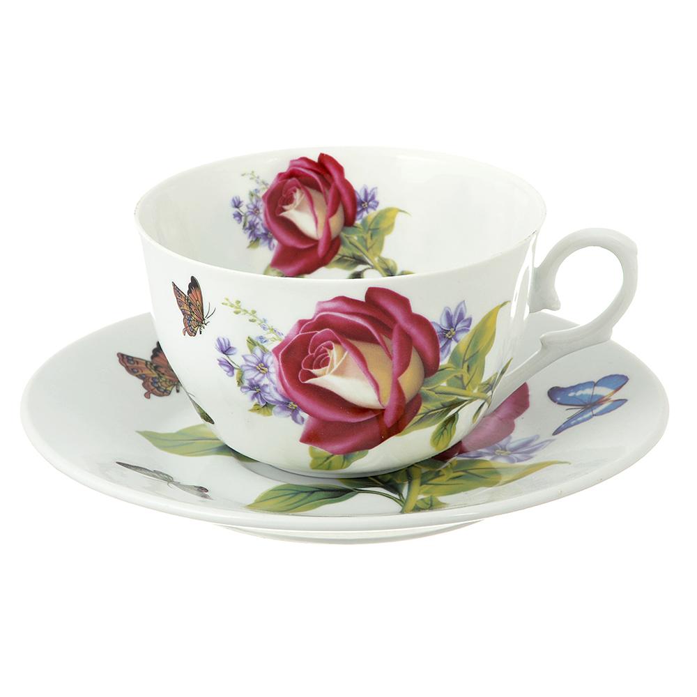 Чайный сервиз 12 предметов MILLIMI Коппелия 250мл, тонкий фарфор