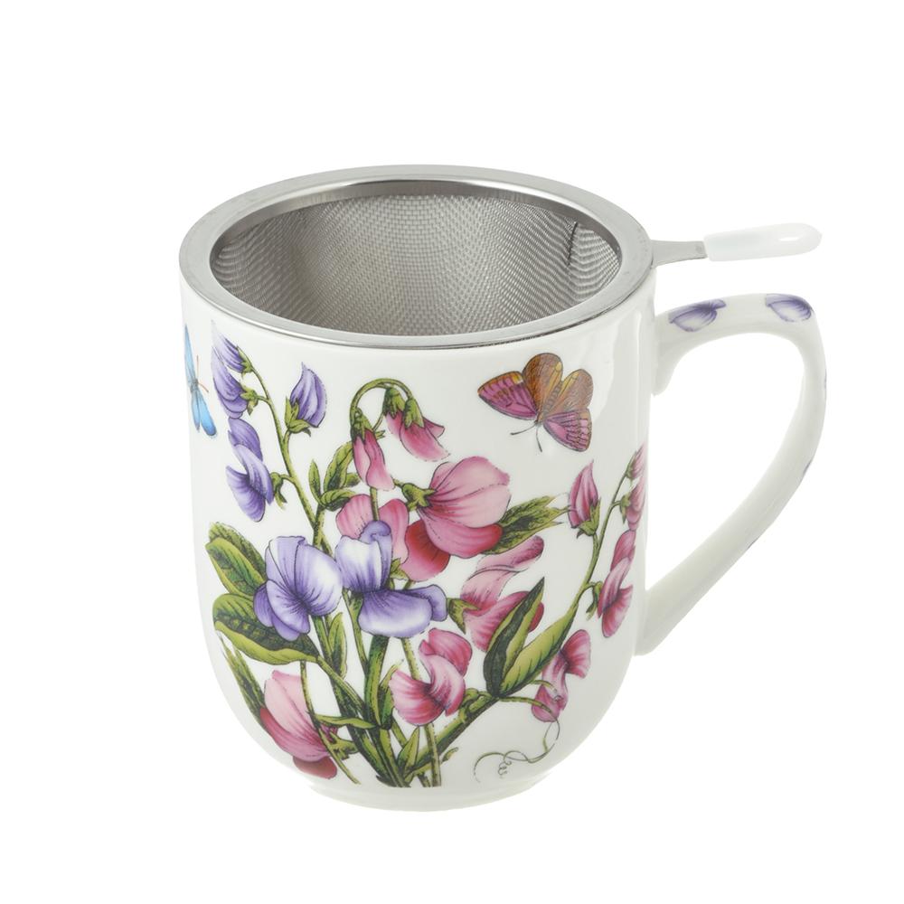Чайный сервиз MILLIMI Камила (кружка, ситечко, ложка, крышка), костяной фарфор