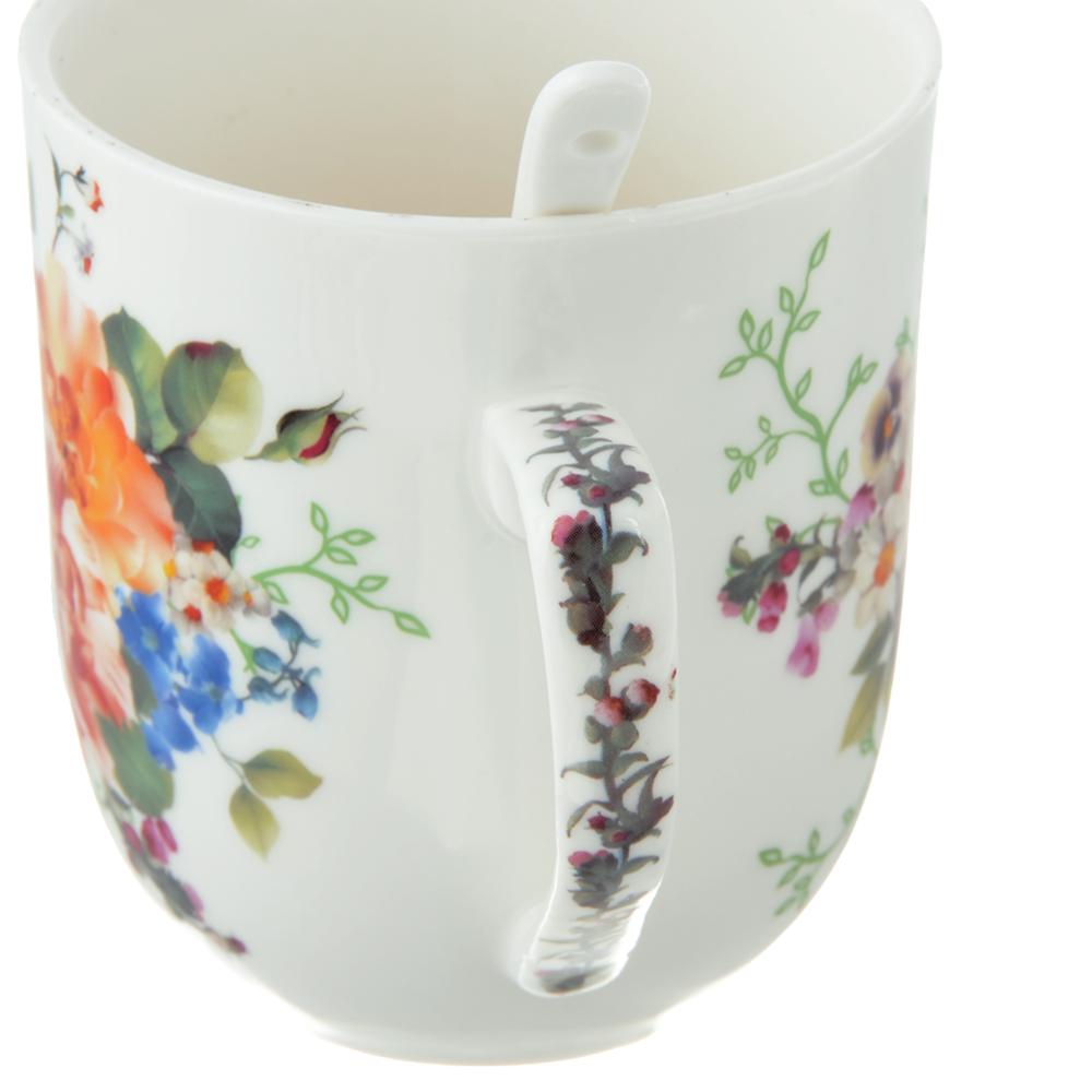 Чайный сервиз MILLIMI Каприз (кружка, ситечко, ложка, крышка), костяной фарфор