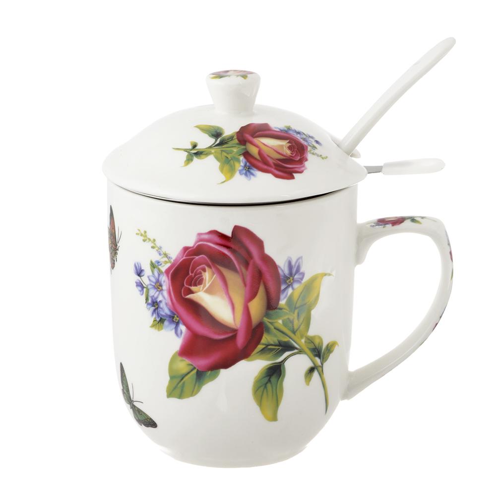 Чайный сервиз MILLIMI Коппелия (кружка, ситечко, ложка, крышка), костяной фарфор